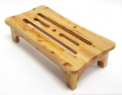 ALFI brand AB4408 24 in. Solid Wood Stepping Stool for Easy Access - Natural Wood