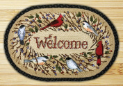 Capitol Importing 89-1012 Birdsong Welcome - 20 in. x 30 in. Licensed Art Print Oval
