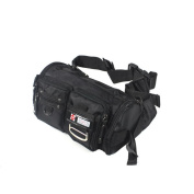 Blancho Bedding WY001-BLACK Crystal Black Multi-Purposes Fanny Pack / Back Pack / Travel Lumbar Pack