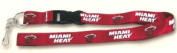 Caseys Distributing 5717527115 Miami Heat Breakaway Lanyard with Key Ring