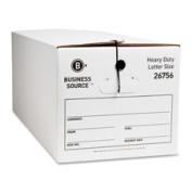 Business Source BSN26756 Storage Box- Medium-duty- Letter- 12-CT- White-Black