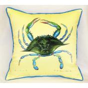 Betsy Drake HJ004 Blue Crab- Female Art Only Pillow 18x18