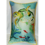 Betsy Drake HJ098 Betsys Sea Turtle Art Only Pillow 15x22
