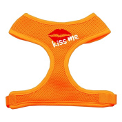 Mirage Pet Products 70-31 LGOR Kiss Me Soft Mesh Harnesses Orange Large