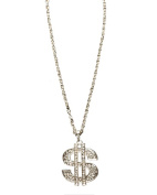 Sunnywood 3706S Silver Novelty Dollar Sign Necklace