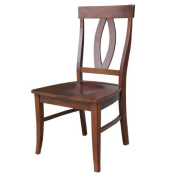 International Concepts Set of Two Cosmo Verona Chairs in Espresso