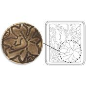 Sizzix 657652 Sizzix DecoEtch Etching Plate 6.7cm . x 6cm . by Vintaj-Botanical Flourish