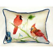 Betsy Drake HJ270 Betsys Cardinals Art Only Pillow 15x22