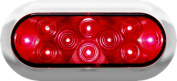 Peterson Mfg. Red LED Surface Mount Oval Stop Turn & Tail Light Kit V423XR-4