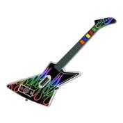 DecalGirl GHX-NFLAMES-RBO Guitar Hero X-plorer Skin - Rainbow Neon Flames
