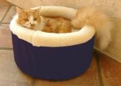 Majestic Pet 788995641223 20 in. Medium Cat Cuddler Pet Bed- Blue