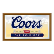 Coors Light Wood Framed Mirror BIG 15 x 26 inch