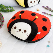 Blancho Bedding TB-CB005-RED-39.4by59.1 Sirotan - Ladybug Red Blanket Pillow Cushion / Travel Pillow Blanket