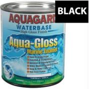 Aquagard Aqua Gloss Waterbased Enamel - Quart - Black