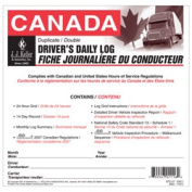 J.J. KELLER Canadian Driver's Daily Log Book Large Format 672LD