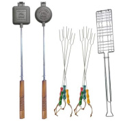 11 Pc Firepit Cookout Utensil Set w Carrying & Storage Bag
