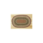 Capitol Importing 00-024 Olive-Burgundy-Gray - 10 in. x 15 in. Oval Swatch