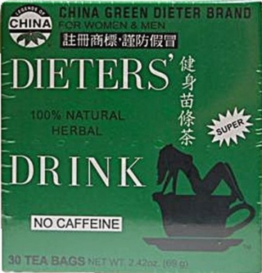 Uncle Lees Tea 0257121 China Green Dieters Tea Caffeine Free - 30 Tea Bags