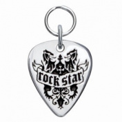 Rockinft Doggie 844587000028 Rock Star Sterling Silver Guitar Pick Tag