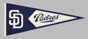 Winning Streak Sports Pennants 51126 San Diego Padres