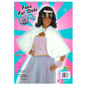 Forum Novelties Inc 33674 White Faux Fur Stole Adult Costume Size Standard One-Size