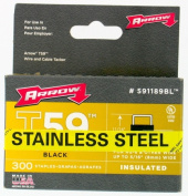 Arrow Fastener Co. .80cm . Black T59 Insulated Staples 591189BLSS