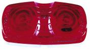 Peterson Mfg. Red Rectangular 2 Bulb Clearance Marker Light V138R