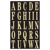 Hy-ko MM-3L 2 in. Black & Gold Self-Stick Letters