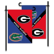 BSI PRODUCTS 83709 2-Sided Garden Flag - Rivalry House Divided - Georgia - Florida