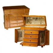 Mele & Co. Josephine Wooden Jewellery Box - 14W x 11.5H in.