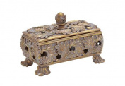 Woodland Import 54820 Decorative Box in Stunning Gold Finish & Dull Grey Wash