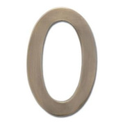 Architectural Mailboxes 3585AB-0 Solid Cast Brass 5 in. Antique Brass Floating House Number 0