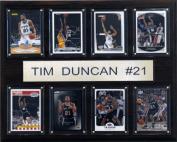 C & I Collectables 1215DUNCAN8C NBA Tim Duncan San Antonio Spurs 8 Card Plaque
