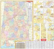 Universal Map 16823 Alabama Wall Map - Roller