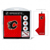 Team Golf 13320 Calgary Flames Embroidered Towel Golf Ball 12 Golf Tee Gift Set