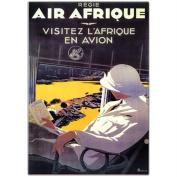 "Trademark Fine Art 46cm x 60cm ""Air Afrique"" by A Roquin-Framed"
