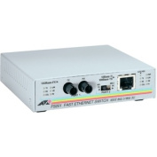 Allied Telesyn AT-FS201 Fast Ethernet Media Converter 1 x RJ-45 10-100Base-TX Duplex 1 x ST 100Base-FX Twisted Pair Fiber Media Converter AT-FS201-90