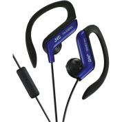 Jvc HAEBR80A Sport-Clip In-Ear Headphones With Microphone and Remote - Blue