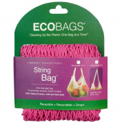 ECOBAGS Market Collection String Bags Long Handle, Fuchsia