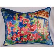 Betsy Drake HJ375 Hollyhocks Art Only Pillow 15x22