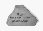 Kay Berry- Inc. 71720 Dogs Leave Paw Prints On Our Hearts - Memorial - 5.25 Inches x 3.75 Inches