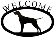 Village Wrought Iron WEL-243-S Welcome Sign-Plaque - Pointer - Dog