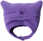 BearHands TC700DPUR Toddler Fleece Chin Strap Hat - Dark Purple
