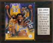 C & I Collectables 1215MAGICST NBA Magic Johnson Los Angeles Lakers Career Stat Plaque