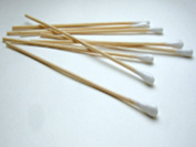 C & A Scientific 95-8702 Cotton Tipped One End 15cm Applicator Sticks - Box of 1000