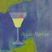 Green Leaf Art YS300111dP Green Leaf Plaque Art Apple Martini