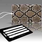 Insight Design 770472 TagCrazy Luggage Tags- Snake Print- Set of Three