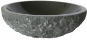 Novatto NOSV-AN NOSV-AN Absolute Natural Black Granite Stone Vessel Sink 17-Inch Diameter