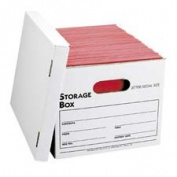 Business Source BSN42051 Storage File- Letter-Legal- 30cm .x38cm .x25cm .- 12-CT- White