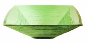Novatto TIS-286G SAUNA Green Square Frosted Glass Vessel Sink 18.25 Inches Wide Green